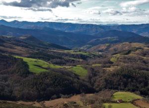 Vue depuis le sommet de l'Atxurria